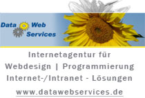 Webdesign: Data Web Services GmbH, www.datawebservices.de